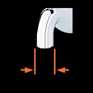 Raccord robinet lisse